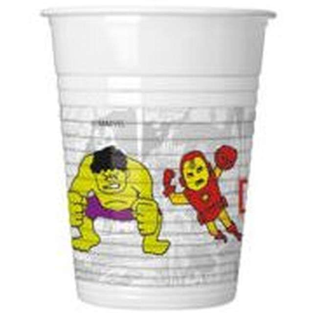 "Kubeczki plastikowe ""Avengers Team Power"", PROCOS, 200 ml, 8 szt"