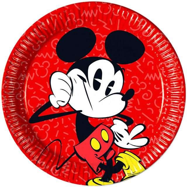 """Talerzyki papierowe """"Mickey Super Cool"""", PROCOS, 23 cm, 8 szt"""