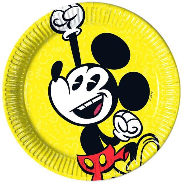 """Talerzyki papierowe """"Mickey Super Cool"""", PROCOS, 20 cm, 8 szt"""