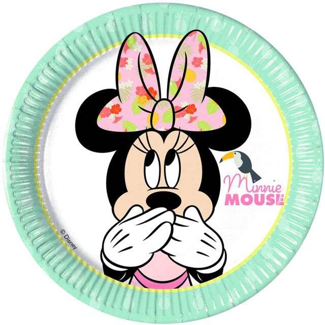"""Talerzyki papierowe """"Minnie Tropical Disney"""", PROCOS, 20 cm, 8 szt"""