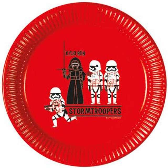 """Talerzyki papierowe """"Star Wars Forces"""", PROCOS, 23 cm, 8 szt"""