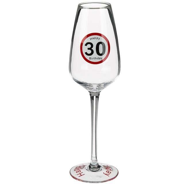 """Kieliszek do szampana """"30 Urodziny - Traffic"""", szkło, OOTB"""