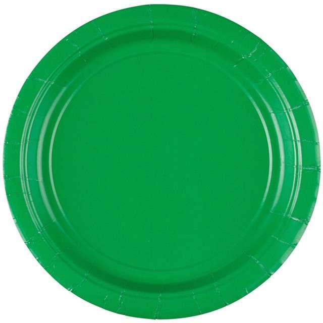 "Talerzyki papierowe ""Premium AMSCAN S - jumbo pack"", zielone, 18 cm, 20 szt"