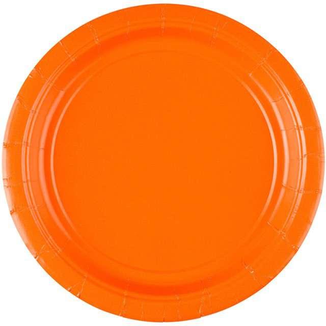 """Talerzyki papierowe """"Premium AMSCAN S - jumbo pack"""", pomarańczowe, 18 cm, 20 szt"""