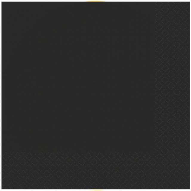 """Serwetki """"Gładkie"""", czarne, AMSCAN, 33 cm, 50 szt"""