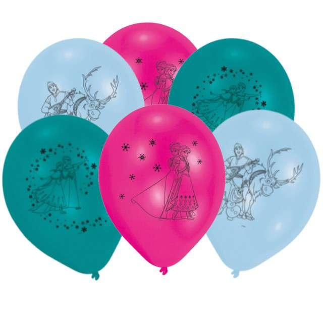 """Balony """"Frozen - Kraina Lodu"""", pastel mix, AMSCAN, 10"""", 10 szt"""