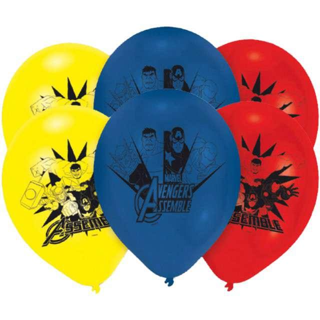 """Balony """"Avengers"""", pastel mix, AMSCAN, 9"""", 6 szt"""