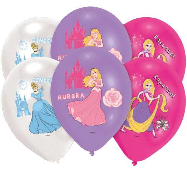 """Balony """"Księżniczki Disneya"""", mix, AMSCAN, 11"""", 6 szt"""