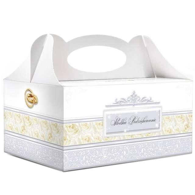 """Pudełko na ciasto """"Słodkie podziękowanie - Rose Ecru"""", 5 szt"""