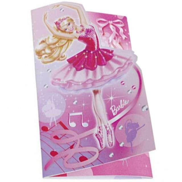 """Zaproszenia urodzinowe """"Barbie Baletnica"""", AMSCAN, 6 szt"""