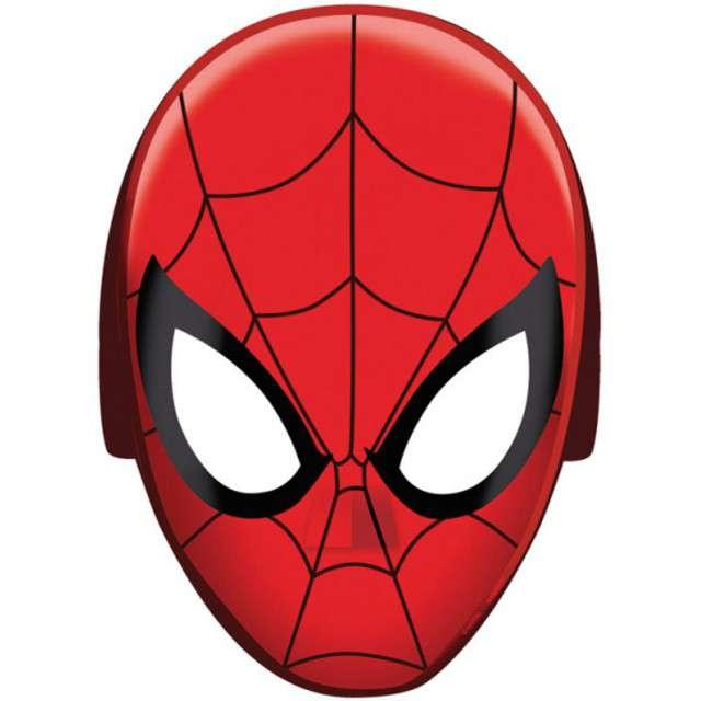 "Maska ""Spiderman"", papierowa, AMSCAN, 8 szt"