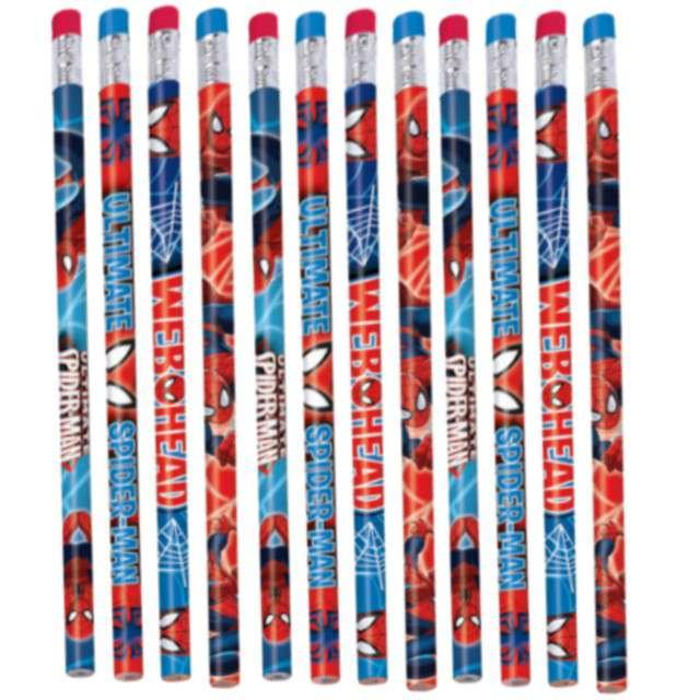 """Ołówek """"Spiderman"""", AMSCAN, 12 szt"""