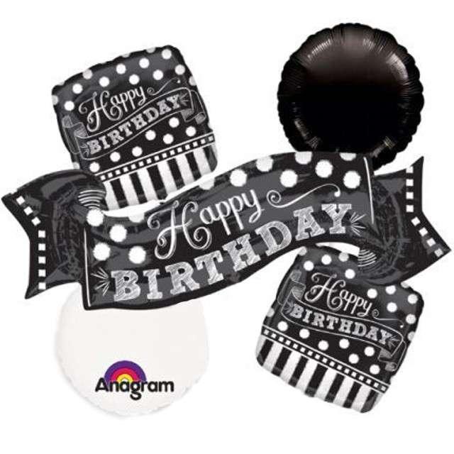 "Balon foliowy ""Chalkboard - Happy Birthday"", AMSCAN, zestaw"