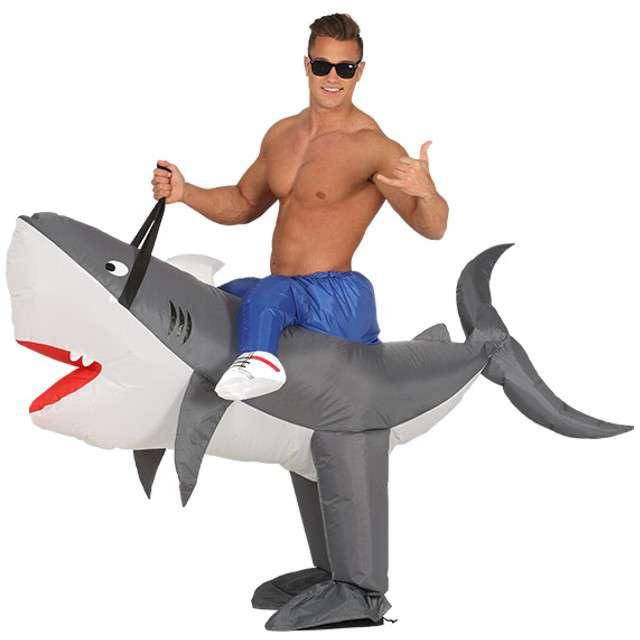 """Strój dla dorosłych """"Rekin"""", GUIRCA, nadmuchiwany, rozm. M/L"""