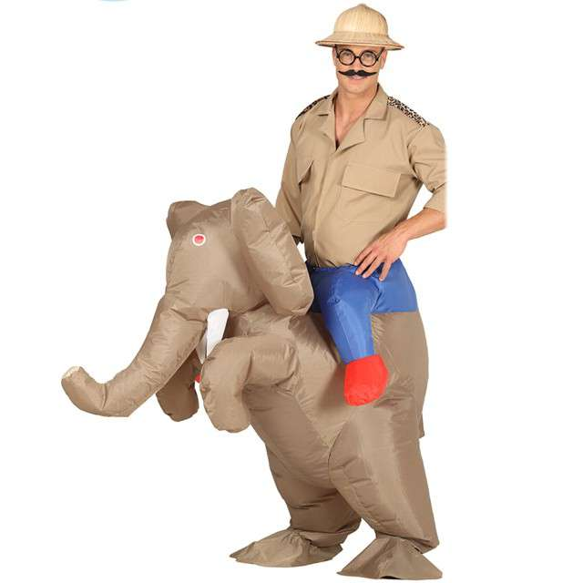 """Strój dla dorosłych """"Słoń"""", GUIRCA, nadmuchiwany, rozm. M/L"""