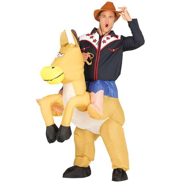 """Strój dla dorosłych """"Kowboj na koniu"""", GUIRCA, nadmuchiwany, rozm. M/L"""