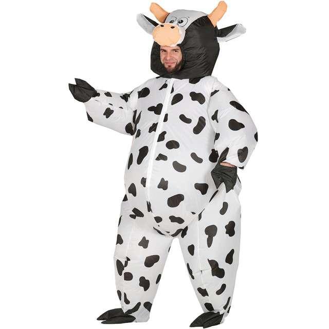 """Strój dla dorosłych """"Krowa"""", GUIRCA, nadmuchiwany, rozm. M/L"""