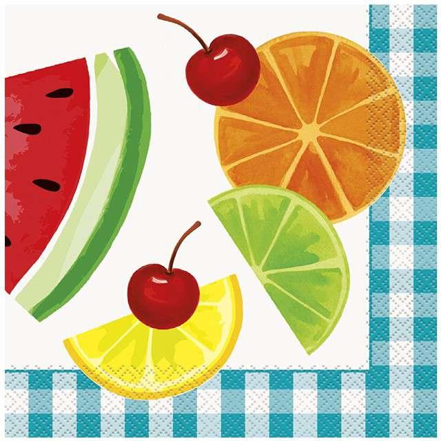 "Serwetki ""Piknikowe Owoce"", UNIQUE, 33 cm, 16 szt"