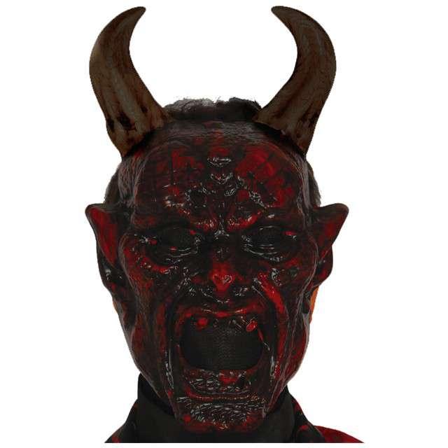 "Maska ""Diabeł"", plastikowa, GUIRCA"