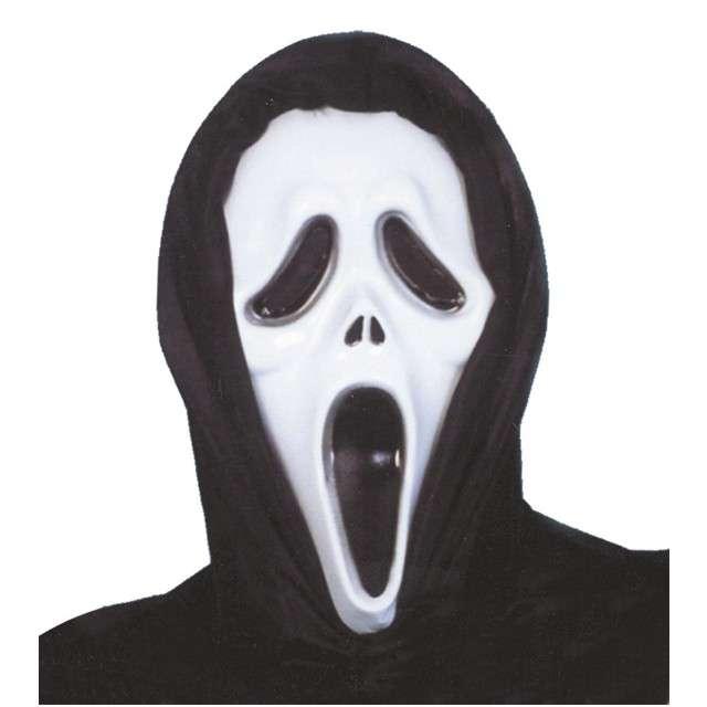 "Maska ""Krzyk"", GUIRCA, plastikowa z kapturem"
