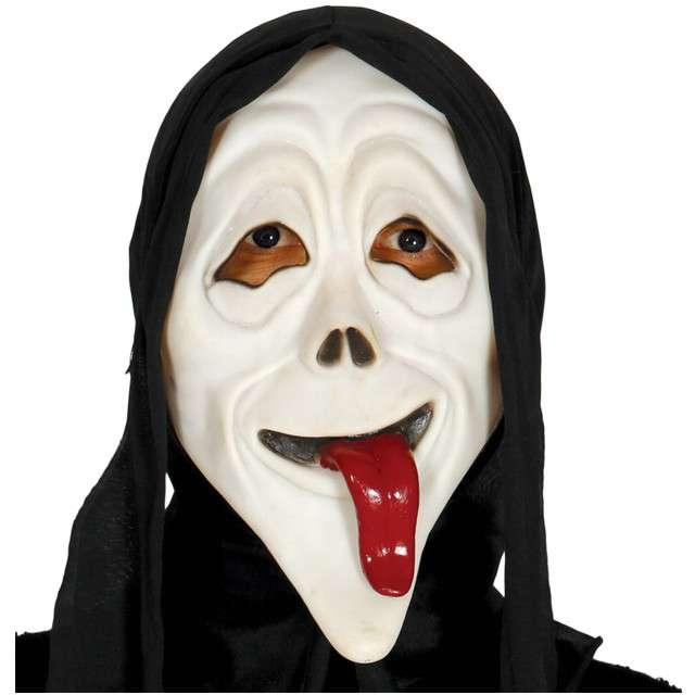 """Maska """"Zabawny Krzyk"""", GUIRCA, lateksowa z kapturem"""