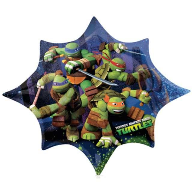 "Balon foliowy 35x29"" SHP ""Turtles"" 1 szt."