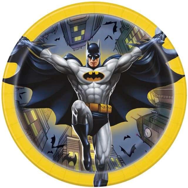 """Talerzyki papierowe """"Batman"""", UNIQUE, 18 cm, 8 szt"""