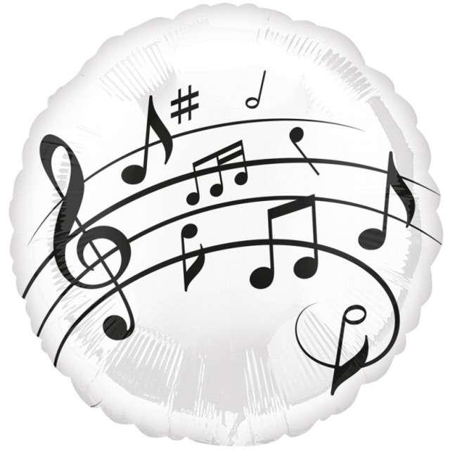 "Balon foliowy ""Nutki"", AMSCAN, biały, 17"" RND"