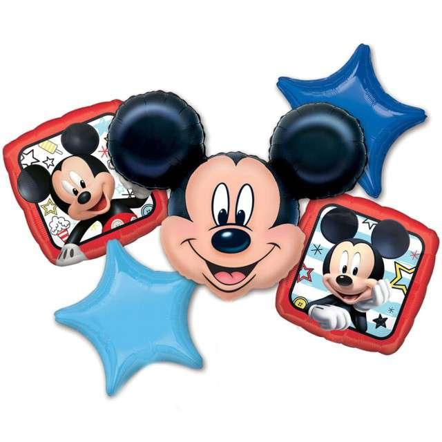 """Balon foliowy """"Myszka Mickey Blue&Red"""", AMSCAN, zestaw"""