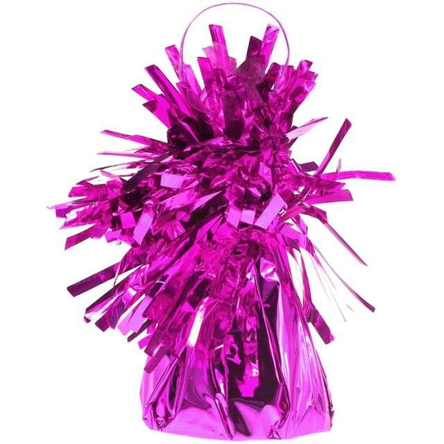 Obciążnik do balonów, foliowy, różowy ciemny