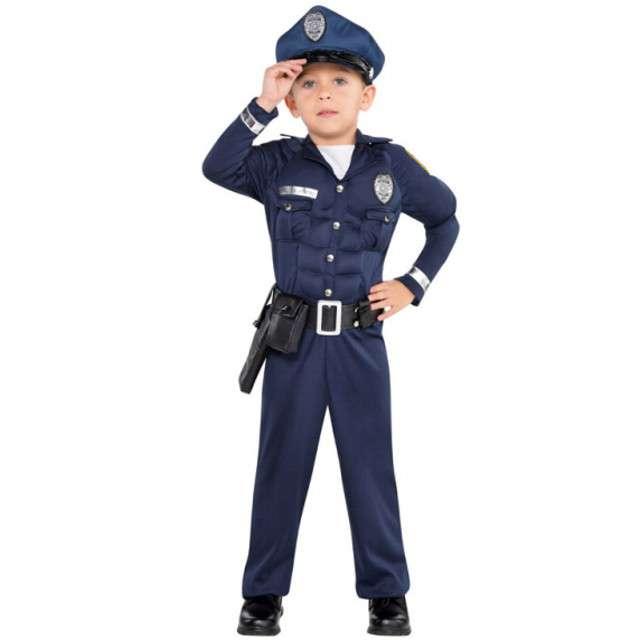 """Strój dla dzieci """"Umięśniony Policjant"""", AMSCAN, rozm. 4-6 lat"""