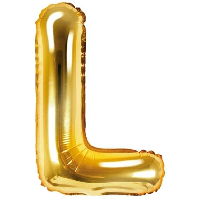 """Balon foliowy litera L, 14"""", PartyDeco, złoty"""