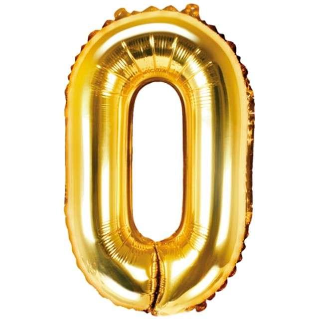 """Balon foliowy litera O, 14"""", PartyDeco, złoty"""