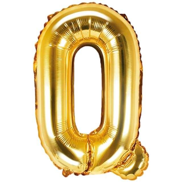 """Balon foliowy litera Q, 14"""", PartyDeco, złoty"""