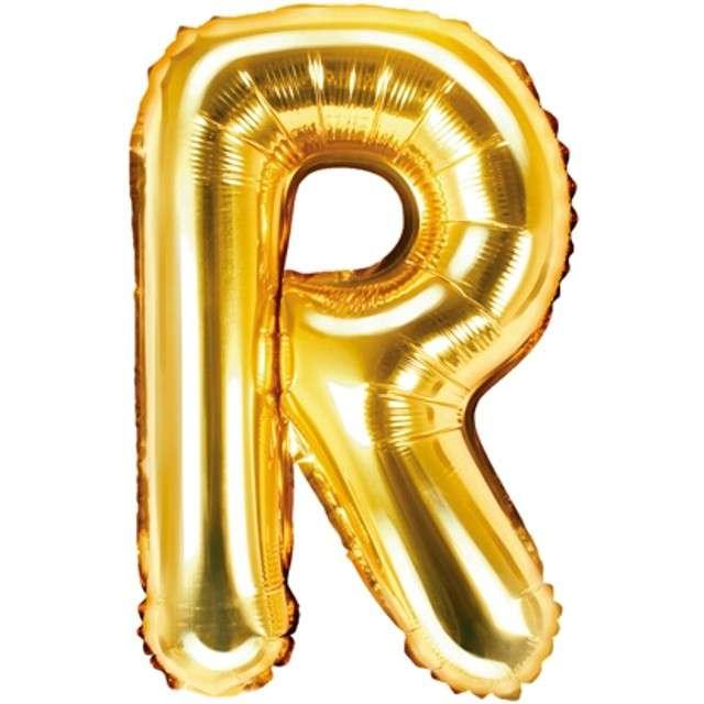 """Balon foliowy litera R, 14"""", PartyDeco, złoty"""