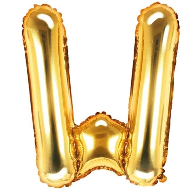 """Balon foliowy litera W, 14"""", PartyDeco, złoty"""