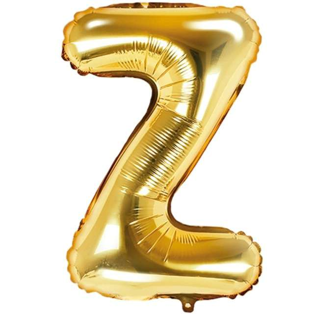 """Balon foliowy litera Z, 14"""", PartyDeco, złoty"""