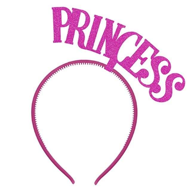 "Opaska party ""Princess"", różowa, PartyDeco"
