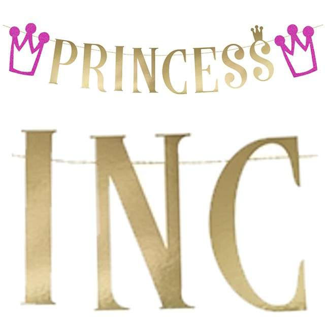 "Baner ""Księżniczka - Princess"", PartyDeco, 90 cm"