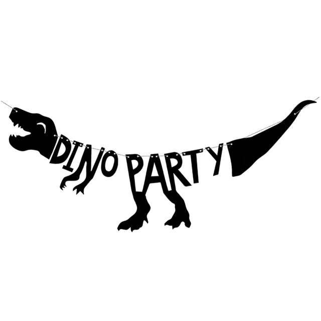 """Baner """"Dinozaury - Dino Party"""", PartyDeco, 90 cm"""