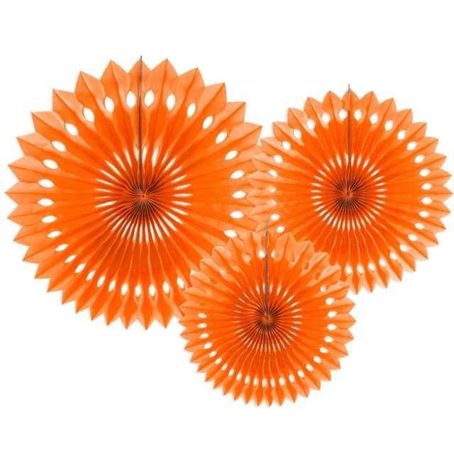 """Rozeta wisząca """"Classic"""", pomarańczowy, 20-30 cm, 3 szt"""