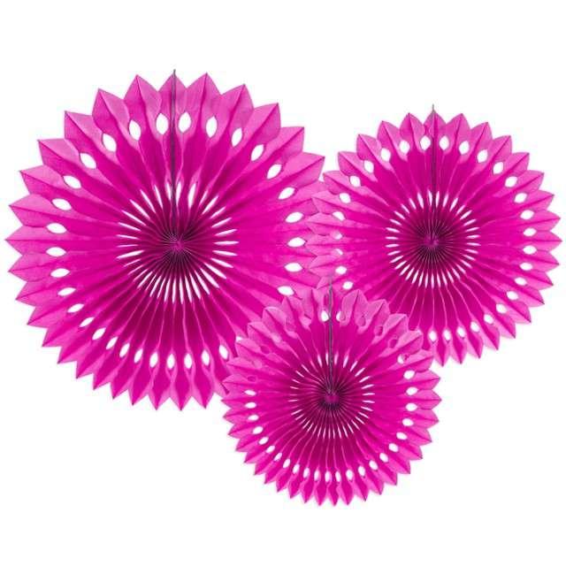 """Rozeta wisząca """"Classic"""", różowy ciemny, 20-30 cm, 3 szt"""