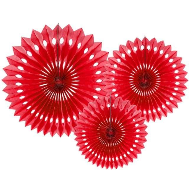 """Rozeta wisząca """"Classic"""", czerwony, 20-30 cm, 3 szt"""