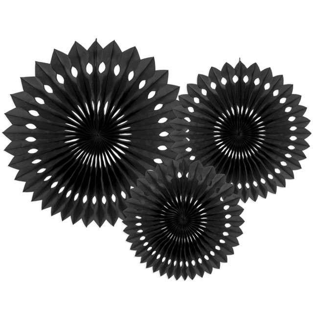 """Rozeta wisząca """"Classic"""", czarny, 20-30 cm, 3 szt"""