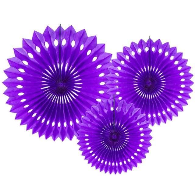 """Rozeta wisząca """"Classic"""", fioletowy, 20-30 cm, 3 szt"""