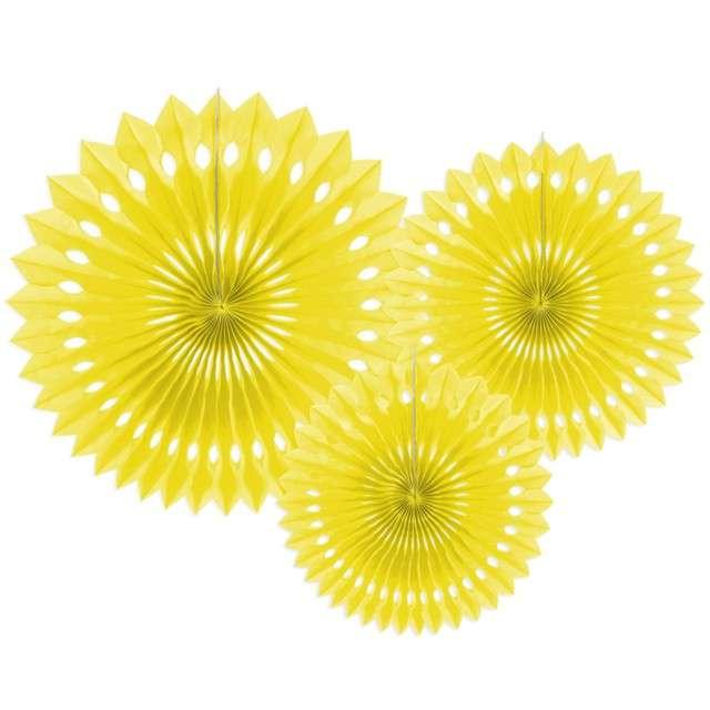 """Rozeta wisząca """"Classic"""", żółty, 20-30 cm, 3 szt"""