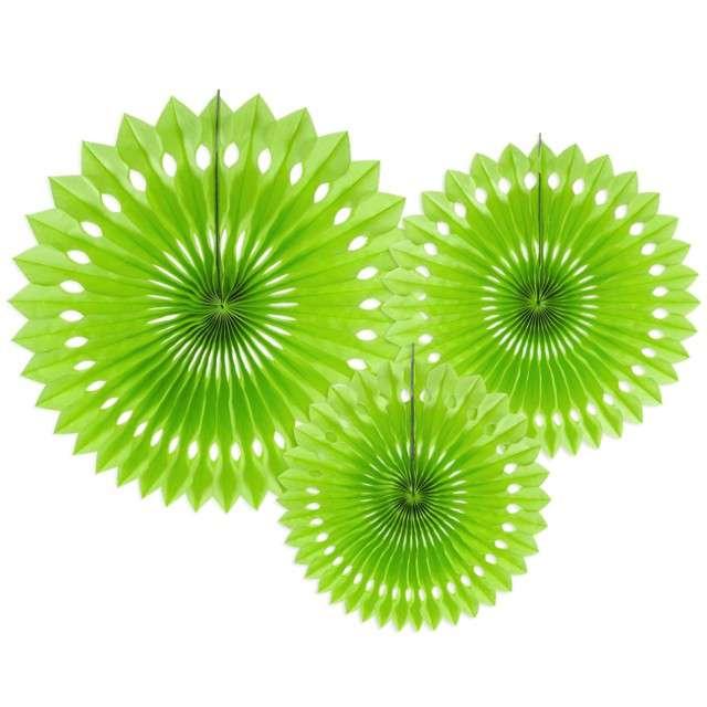 """Rozeta wisząca """"Classic"""", zielone jabłuszko, 20-30 cm, 3 szt"""