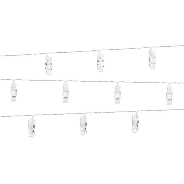 """Dekoracja świetlna """"Klamerki LED"""", bezbarwny, 140 cm"""