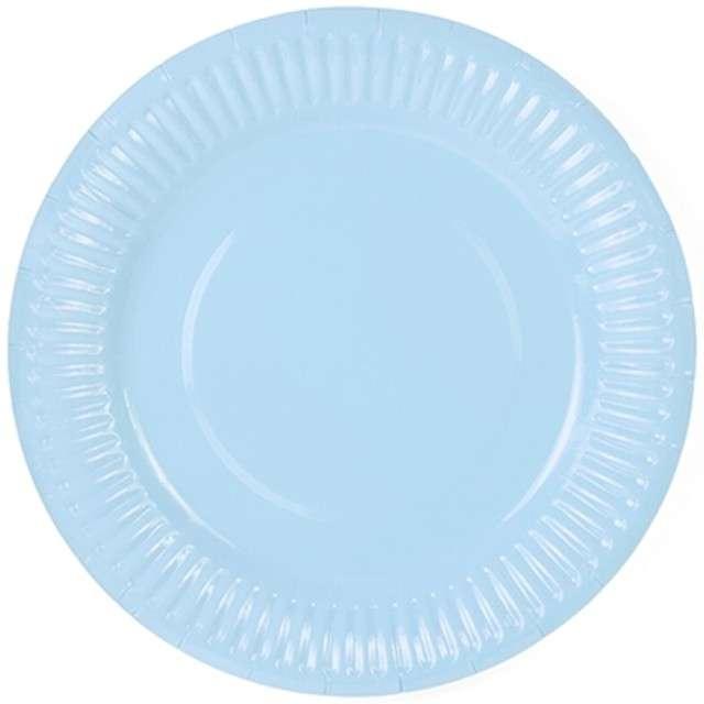 """Talerzyki papierowe """"Classic"""", błękitne jasne, 18 cm, 6 szt"""