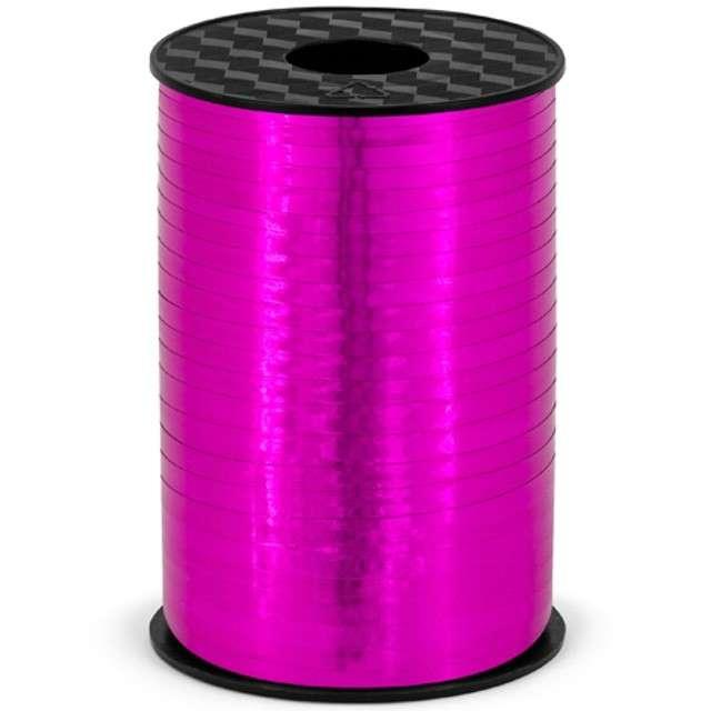 Wstążka do balonów, metalic, różowa ciemna, 0,5 cm x 225 m